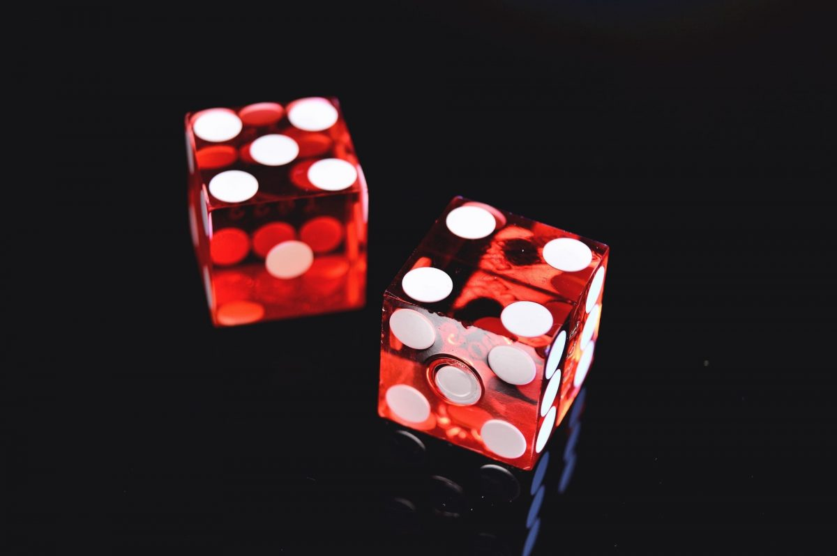 two red and white dices - lotteryaction.com
